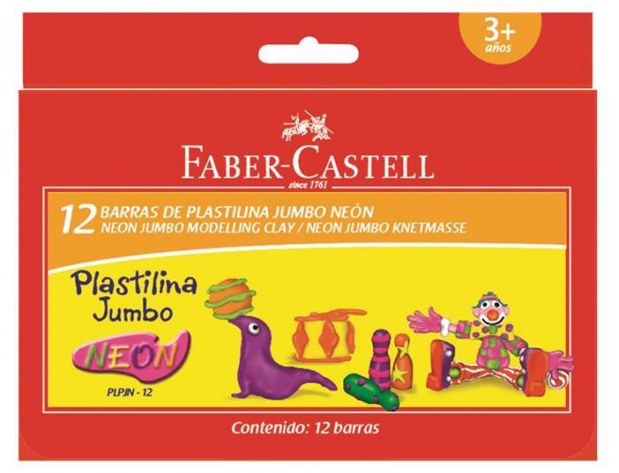 Plastilina Faber-Castell - 12 Culori Neon 0
