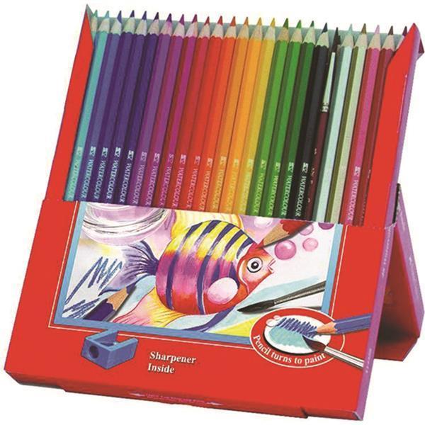 Creioane Colorate Acuarela  Faber-Castell - 12 Buc si Pensula 0