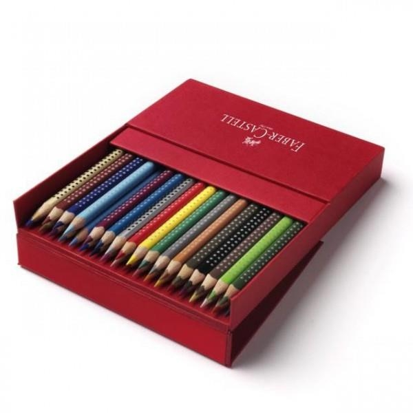 Creioane Colorate Grip 2001 Faber-Castell - 12 culori / cutie metal 2