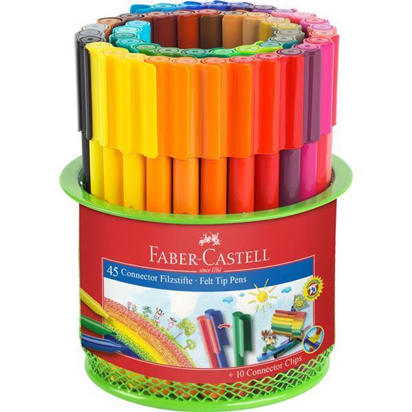 Carioca 45 Culori Connector in Suport Mesh Faber-Castell 0