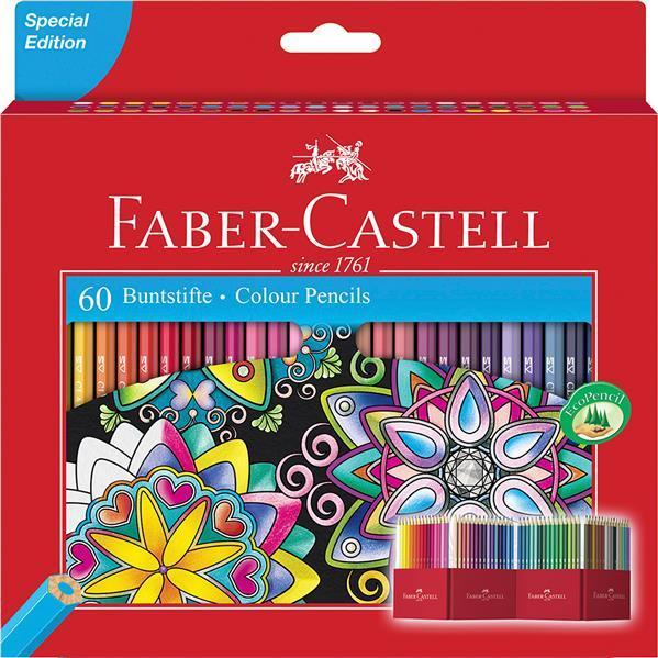 Creioane Colorate Faber-Castell -  60 Culori Editie Speciala  0