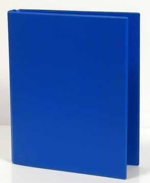 Caiet mecanic 2 inele - D25mm, coperti carton plastifiat PVC, A5, AURORA - albastru 0