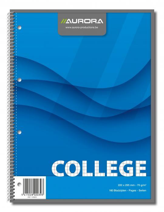 Caiet cu spirala, A4, 80 file - 70g/mp, 4 perforatii, coperti carton, AURORA College - matematica [1]