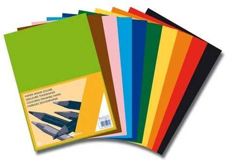 Carton color A4, 120g/mp - 100 coli/top, AURORA Raphael -  10 culori intense 0