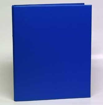 Caiet mecanic 2 inele - D25mm, coperti carton plastifiat PVC, A4, AURORA - albastru [0]