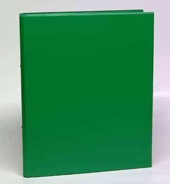 Caiet mecanic 2 inele - D25mm, coperti carton plastifiat PVC, A4, AURORA - verde 0