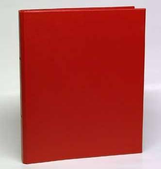 Caiet mecanic 2 inele - D25mm, coperti carton plastifiat PVC, A4, AURORA - rosu 0