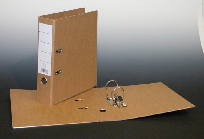 Biblioraft A4, margine metalica, 80mm, AURORA - carton reciclat [0]