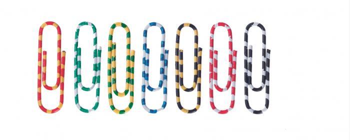 Agrafe colorate 50 mm, 100/cutie, ALCO Zebra - asortate 1