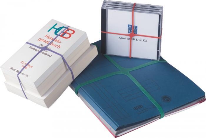 Elastice pentru carti, forma X, 100g/cutie, D 150 x 11mm, ALCO 1