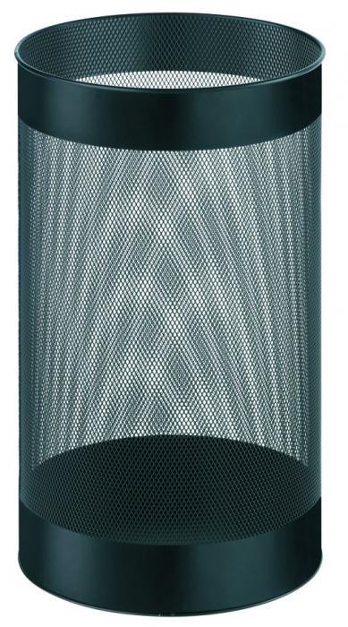 Cos metalic cu perforatii, forma rotunda, 15 litri, ALCO - negru 1