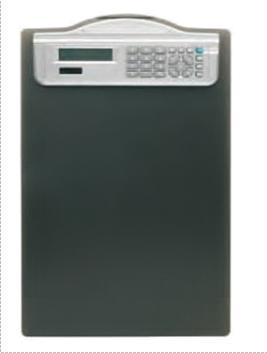 Clipboard simplu A4, din plastic rigid, cu calculator, ALCO - negru 0