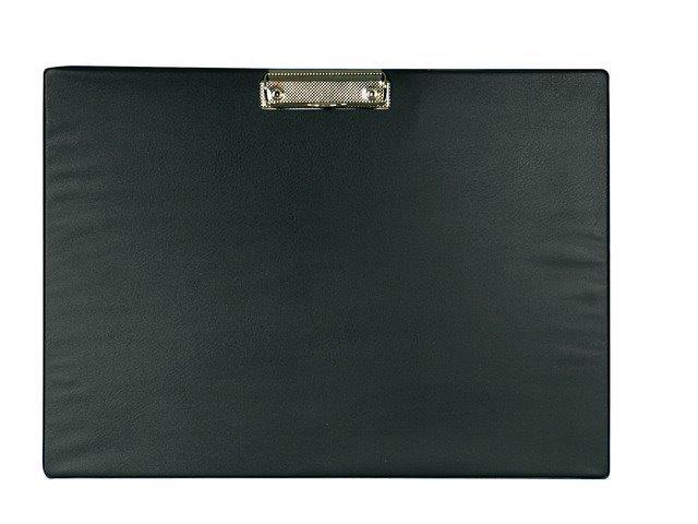Clipboard simplu A3 - landscape, plastifiat PVC, ALCO - negru [0]