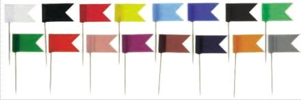 Stegulete colorate, 20/cutie, ALCO - rosu 1