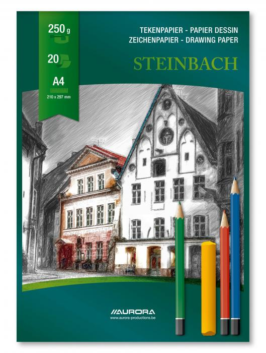Bloc desen A4, 20 file - 250g/mp, AURORA Steinbach 2