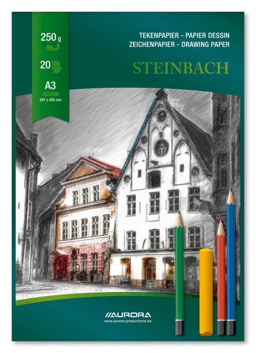 Bloc desen A3, 20 file - 250g/mp, AURORA Steinbach 0
