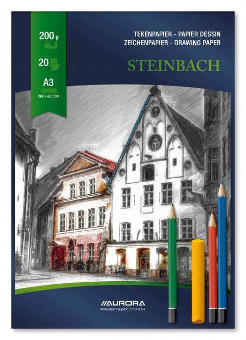 Bloc desen A3, 20 file - 200g/mp, AURORA Steinbach [0]