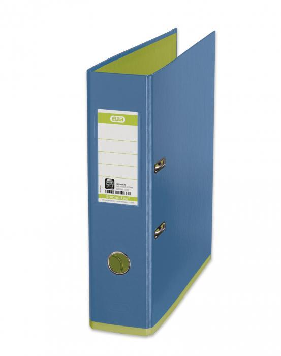 Biblioraft A4, plastifiat PP/PP, 80 mm, ELBA MyColour - bleu/verde deschis 0
