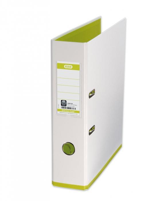 Biblioraft A4, plastifiat PP/PP, 80 mm, ELBA MyColour - alb/alb/verde deschis [0]