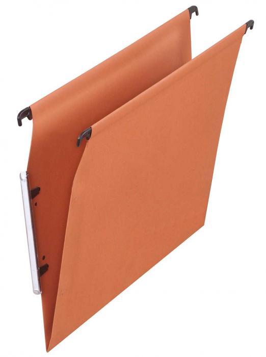 Dosar suspendabil cu eticheta laterala,  carton 220g/mp, ELBA - kraft orange 0