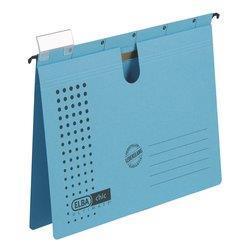 Dosar suspendabil cu sina, carton 230g/mp, bagheta metalica, ELBA Chic - albastru [0]