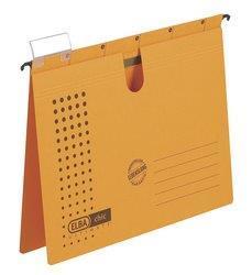 Dosar suspendabil cu sina, carton 230g/mp, bagheta metalica, ELBA Chic - galben 0