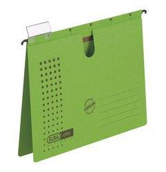Dosar suspendabil cu sina, carton 230g/mp, bagheta metalica, ELBA Chic - verde [0]