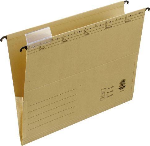 Dosar suspendabil cu burduf si eticheta , bagheta metalica, ELBA 3300 - kraft 0