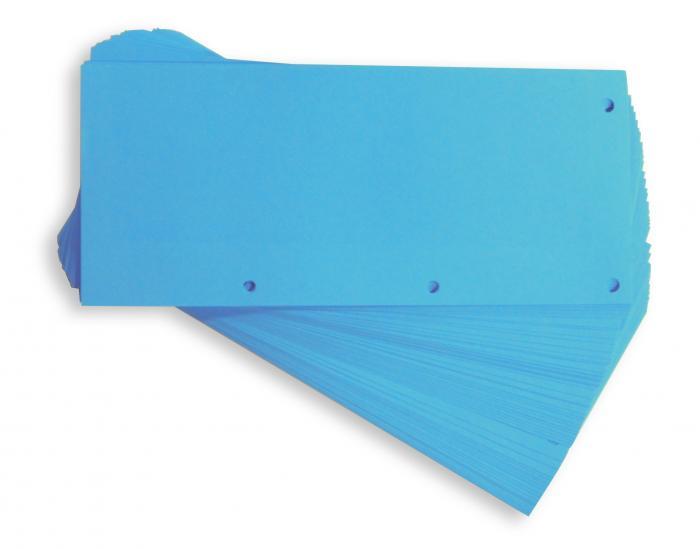 Separatoare carton pentru biblioraft, 190g/mp, 105 x 240 mm, 60/set, ELBA Duo - albastru [0]