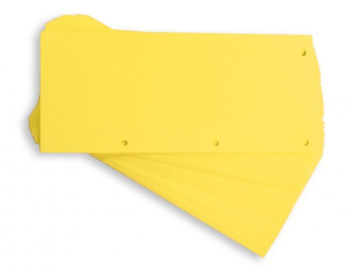 Separatoare carton pentru biblioraft, 190g/mp, 105 x 240 mm, 60/set, ELBA Duo - galben 0