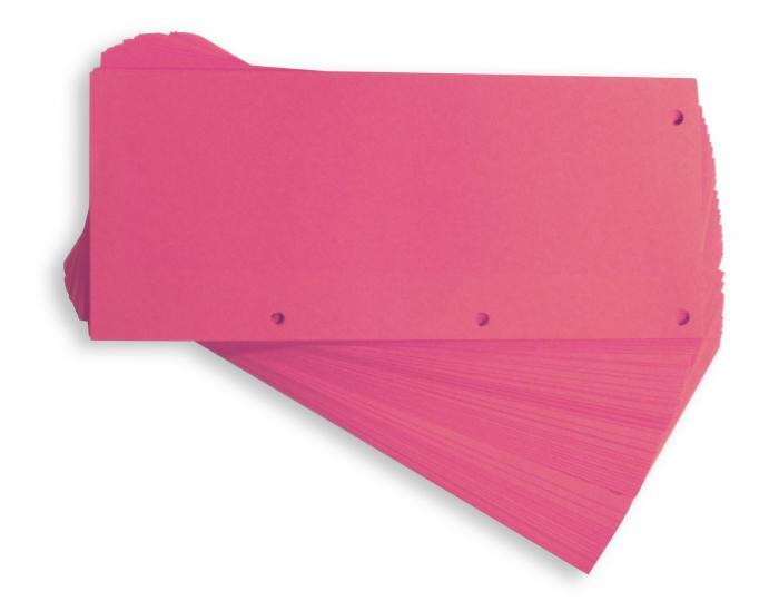 Separatoare carton pentru biblioraft, 190g/mp, 105 x 240 mm, 60/set, ELBA Duo - roz 0
