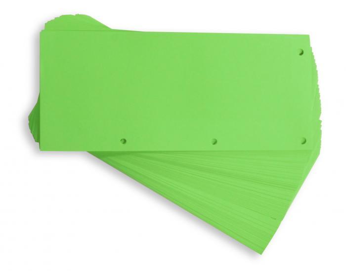 Separatoare carton pentru biblioraft, 190g/mp, 105 x 240 mm, 60/set, ELBA Duo - verde [0]