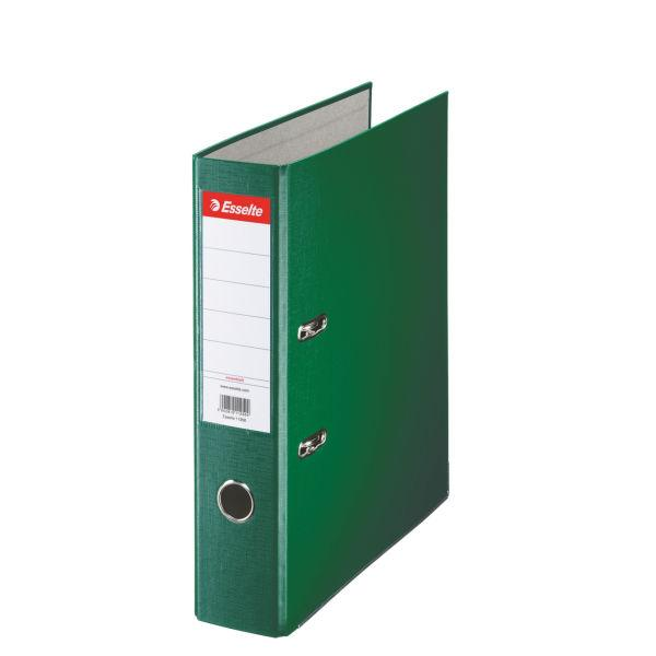 Biblioraft ESSELTE Economy, A4, plastifiat PP, margine metalica, 75 mm - verde 0