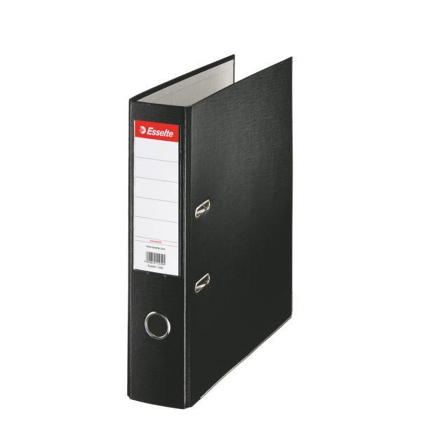 Biblioraft ESSELTE Economy, A4, plastifiat PP, margine metalica, 75 mm - negru [0]