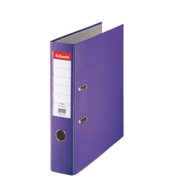 Biblioraft ESSELTE Economy, A4, plastifiat PP, margine metalica, 75 mm - mov [0]