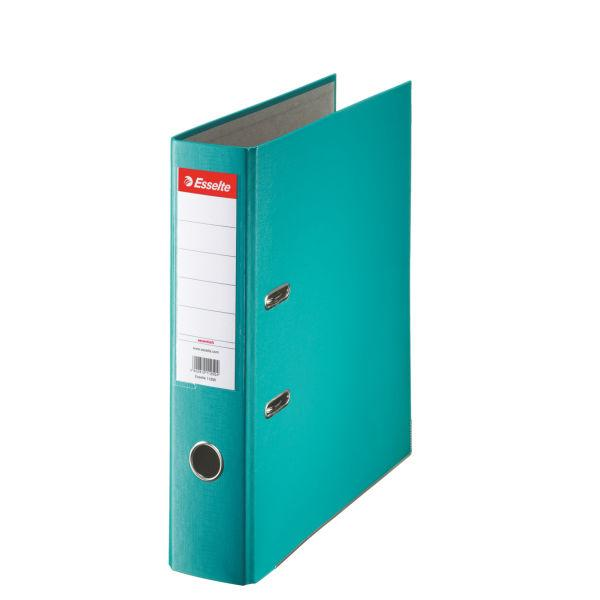 Biblioraft ESSELTE Economy, A4, plastifiat PP, margine metalica, 75 mm - turcoaz 0