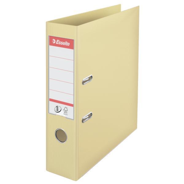 Biblioraft ESSELTE No. 1 Power, A4, plastifiat PP/PP, margine metalica, 75 mm - scoica 0