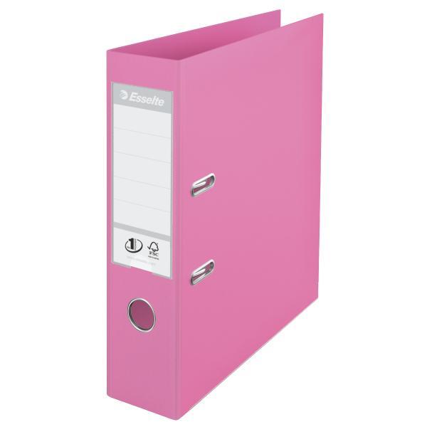 Biblioraft ESSELTE No. 1 Power, A4, plastifiat PP/PP, margine metalica, 75 mm - violet 0