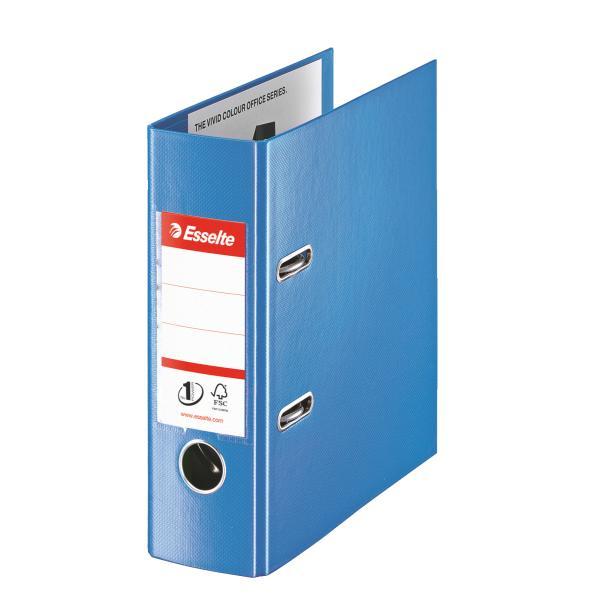 Biblioraft ESSELTE No. 1 Power, A5, plastifiat PP/PP, margine metalica, 75 mm - Vivida albastru 0