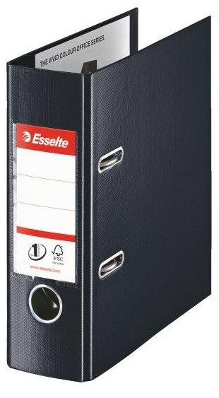 Biblioraft ESSELTE No. 1 Power, A5, plastifiat PP/PP, margine metalica, 75 mm - Vivida negru 0
