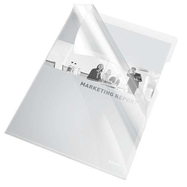 Mapa de protectie ESSELTE, A4, cristal, 150 microni, 25 buc/set - transparent [0]