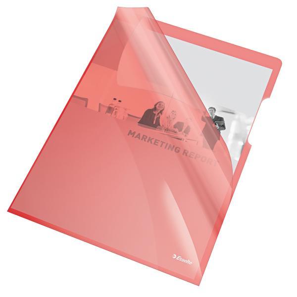 Mapa de protectie ESSELTE, A4, cristal, 150 microni, 25 buc/set - rosu [0]