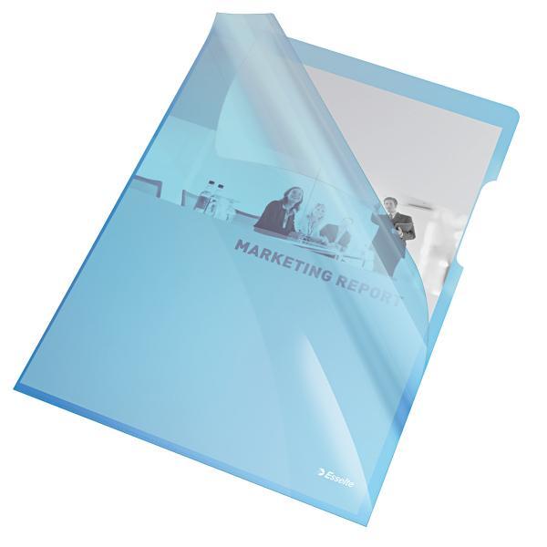 Mapa de protectie ESSELTE, A4, cristal, 150 microni, 25 buc/set - albastru [0]