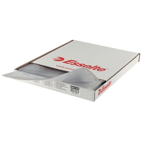Folie protectie, ESSELTE, cristal, A4, 105 microni, cutie de 100 buc [0]