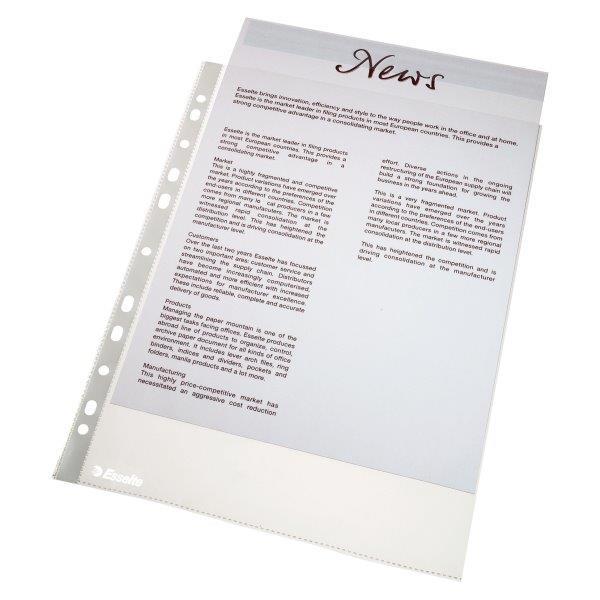 Folie protectie ESSELTE, standard, A4, 43 mic, 100 folii/set [0]