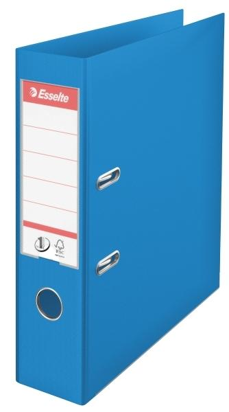 Biblioraft ESSELTE No. 1 Power, A4, plastifiat PP/PP, margine metalica, 75 mm - Vivida albastru [0]