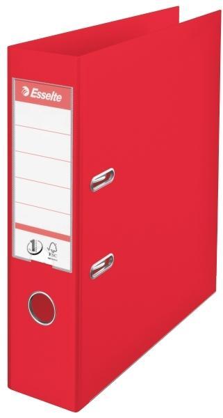 Biblioraft ESSELTE No. 1 Power, A4, plastifiat PP/PP, margine metalica, 75 mm - Vivida rosu [0]