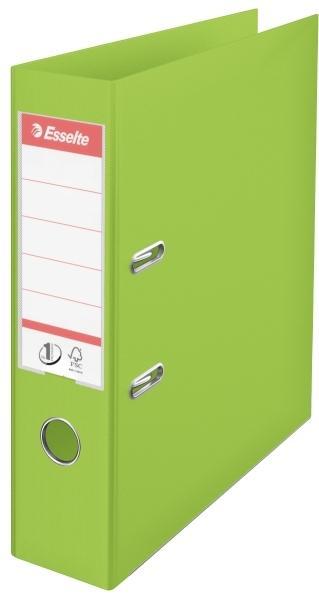 Biblioraft ESSELTE No. 1 Power, A4, plastifiat PP/PP, margine metalica, 75 mm - Vivida verde [0]