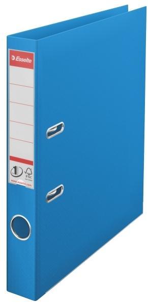 Biblioraft ESSELTE No. 1 Power, A4, plastifiat PP/PP, margine metalica, 50 mm - Vivida albastru [0]