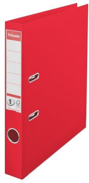 Biblioraft ESSELTE No. 1 Power, A4, plastifiat PP/PP, margine metalica, 50 mm - Vivida rosu [0]